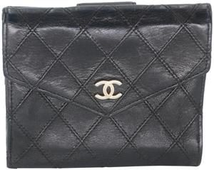 Matelasse Quilted Lambskin Leather French Compact